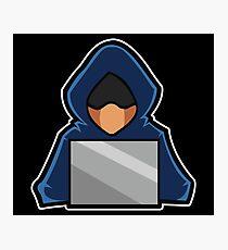 Retro Hack Coder Hacking Hoodie Hacker Photographic Print