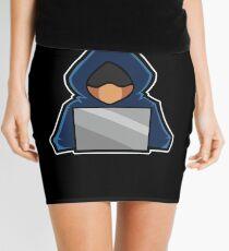 Retro Hack Coder Hacking Hoodie Hacker Mini Skirt