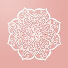 Pretty Mandala on Rose Gold by julieerindesign