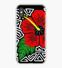 Mola Hibiscus w/swirl iPhone Case