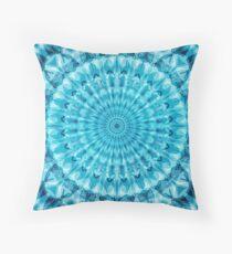 Caribbean Blue Mandala Floor Pillow