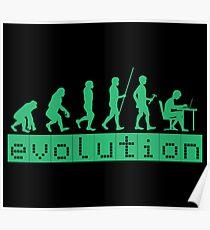 Evolution of Coding Developer Retro Hacker Poster