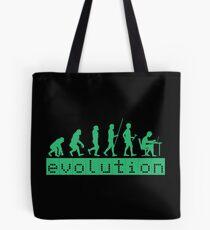 Evolution of Coding Developer Retro Hacker Tote Bag