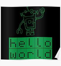 Retro Coding Kids Award Robot Science Code Poster
