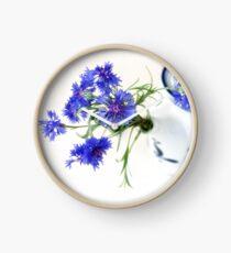 Blue Cornflower Display  Clock