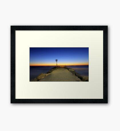Dreamy Dusk At North Beach  Framed Print
