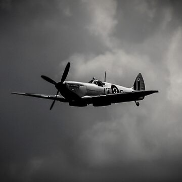 Silver RAF Spitfire by captureasecond