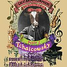 Pyotr Tchaicowsky Tchaikovsky Cow Classical Music by AnimalComposers