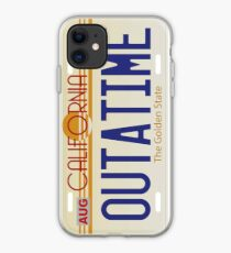 Back to the Future License Plate iPhone Case