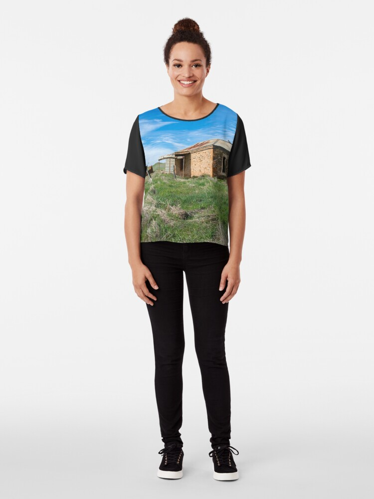 Alternate view of Abandoned Stone Cottage Chiffon Top