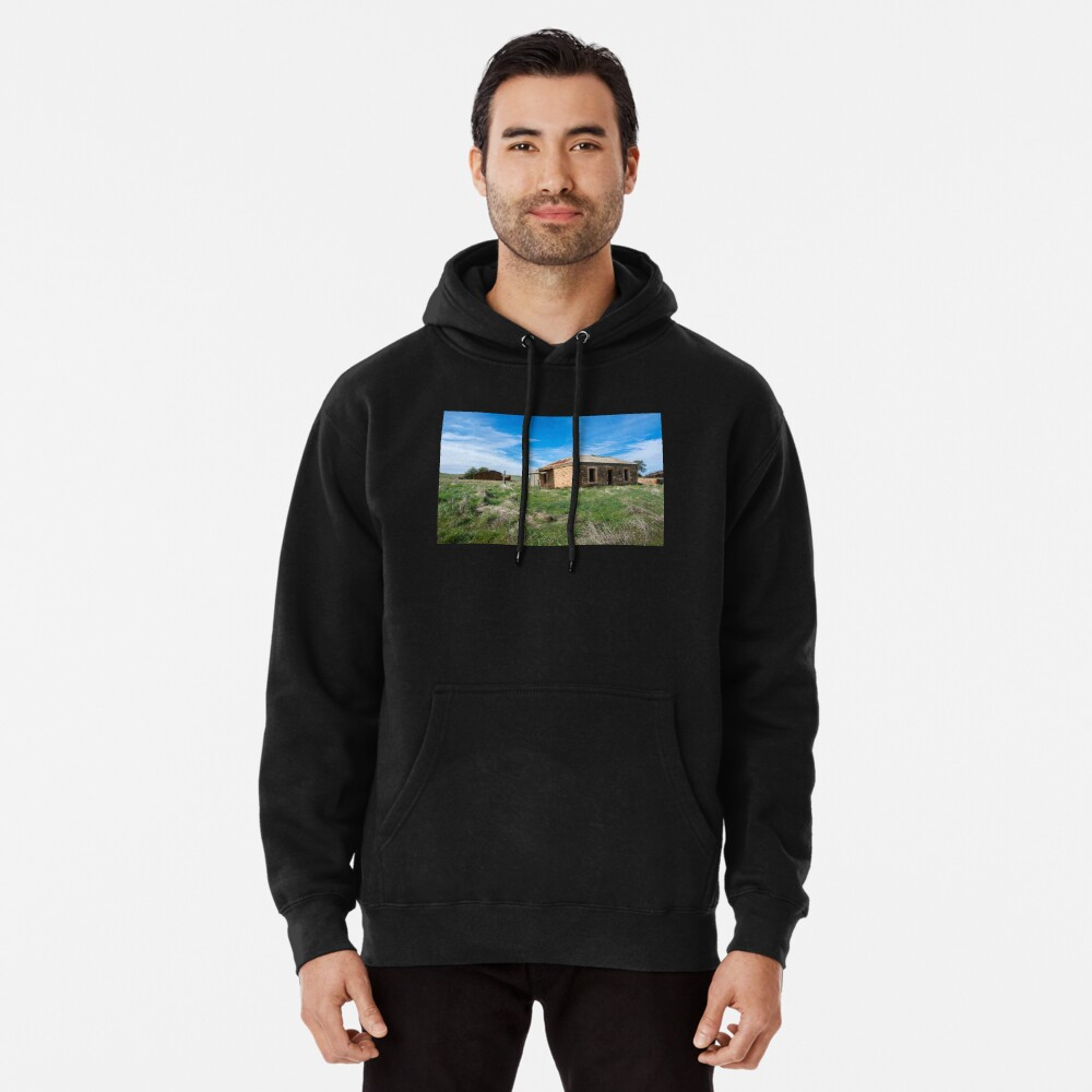 Abandoned Stone Cottage Pullover Hoodie
