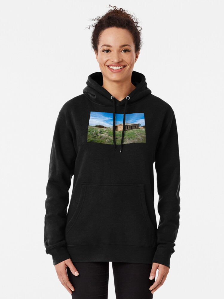 Alternate view of Abandoned Stone Cottage Pullover Hoodie