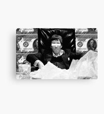 Scarface Black and White Design  Canvas Print
