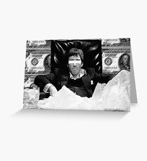 Scarface Black and White Design  Greeting Card