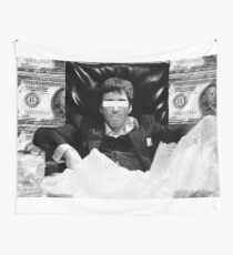 Scarface Black and White Design  Wall Tapestry