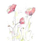 Watercolor Poppy by MABArtStudio