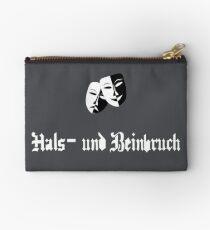 Break a leg in German Zipper Pouch