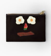 Bacon and Eggs Breakfast Face Studio Pouch