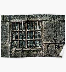 Broken Metal Window Fine Art Print Poster
