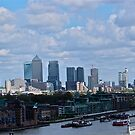 Overlooking London's skyscrapers.  by dhphotography