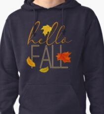 Hello Fall Hand Lettered Typography Pullover Hoodie