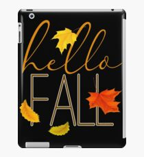 Hello Fall Hand Lettered Typography iPad Case/Skin