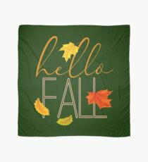 Hello Fall Hand Lettered Typography Scarf