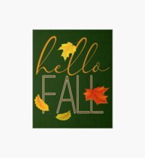 Hello Fall Hand Lettered Typography Art Board
