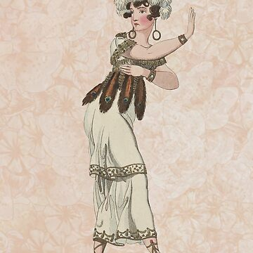 Woman Ballet Dancer Vintage Print by VintageArchive