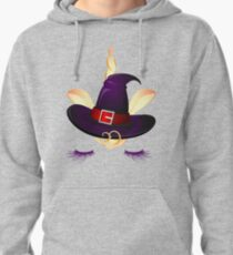 Cute Little Unicorn Witch  Pullover Hoodie