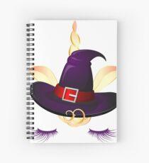 Cute Little Unicorn Witch  Spiral Notebook