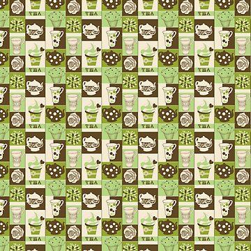 Green Tea ColorBlock by Pembertea