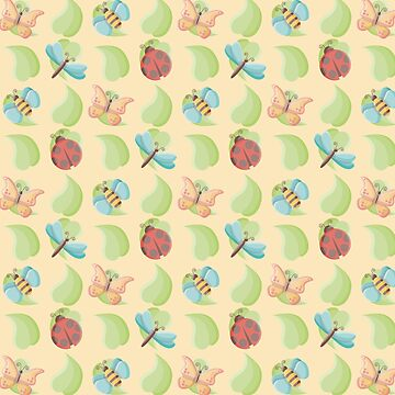 Cute Bugs & Leaves Pattern by limengd