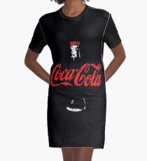 Coca Cola-Retro Poster-Eroded Graphic T-Shirt Dress