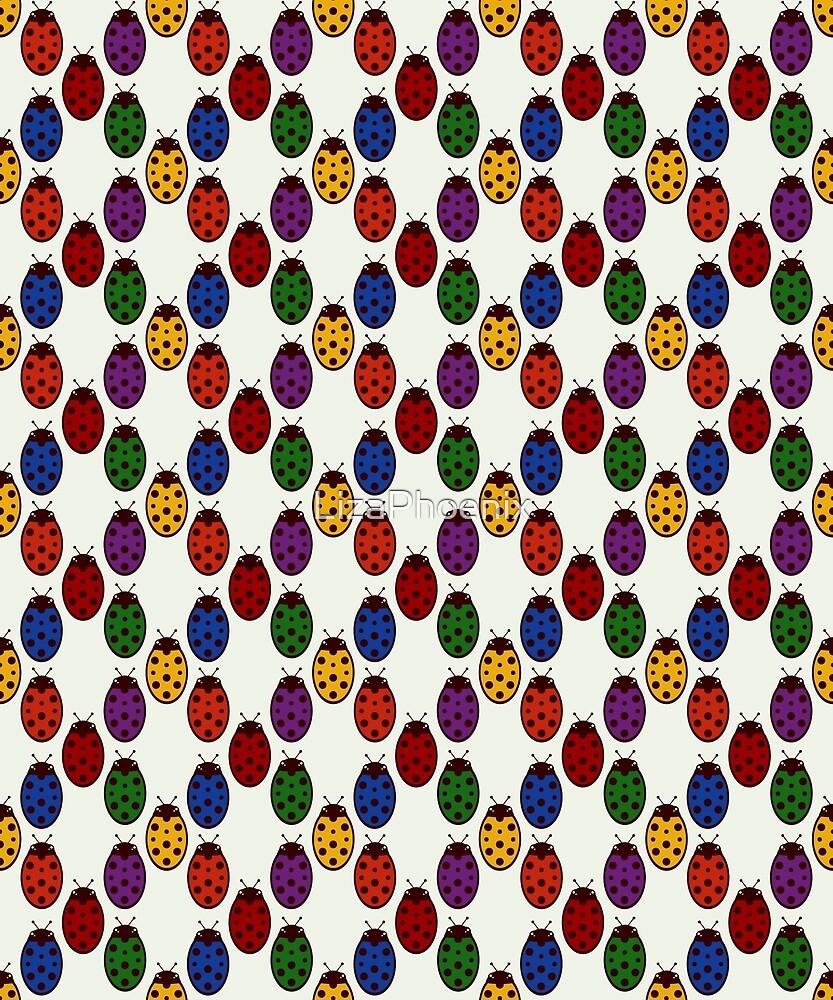 Rainbow Ladybirds by LizaPhoenix