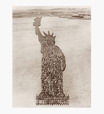 Statue der Freiheits-menschlichen Anordnung - durch Arthur Mole 1918 Fotodruck