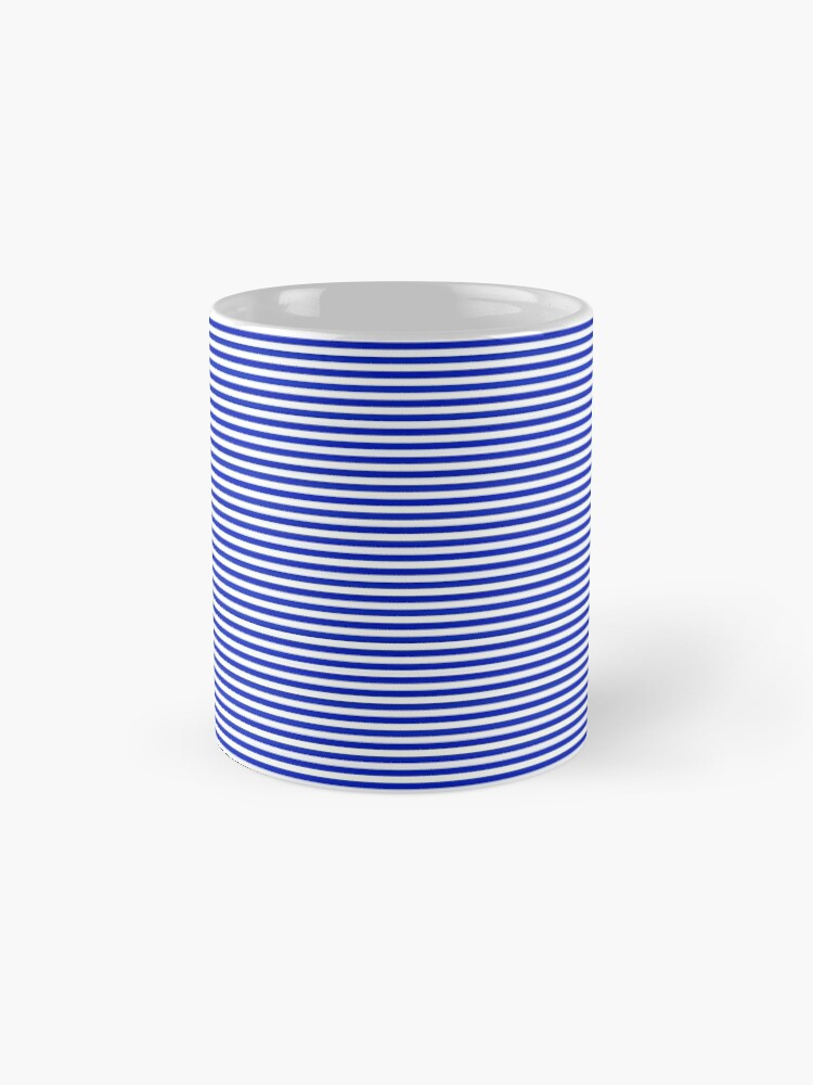 Alternate view of Cobalt Blue and White Horizontal Nautical Sailor Stripe Mugs