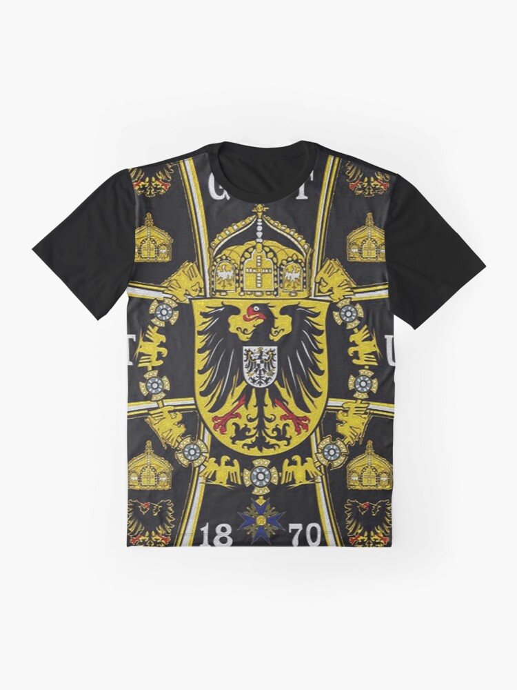 Alternate view of German Kaiser Imperial Flag Graphic T-Shirt