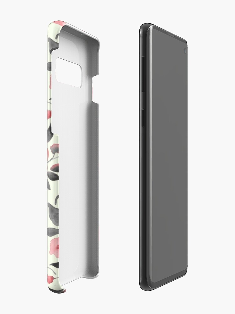 Alternate view of Watercolor floral background with cute bird /2 Case & Skin for Samsung Galaxy