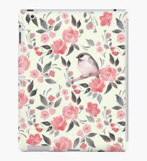 Vinilo o funda para iPad Fondo floral de acuarela con lindo pájaro / 2
