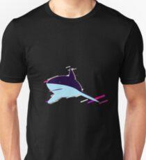 Shark perspective Eighties Retro Violet and Purple Unisex T-Shirt