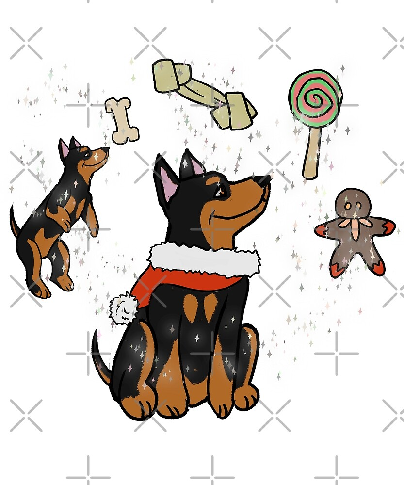Funny Miniature Pinscher Merry Xmas Wishes Christmas\