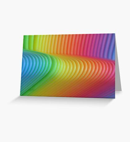 Colorful Slinky Greeting Card
