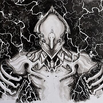 Warframe Volt - Painting by thewisecarrot