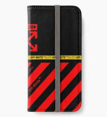 Off White Cover Full Black and Red Stripes iPhone Wallet/Case/Skin