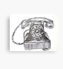 Vintage Telephone Canvas Print