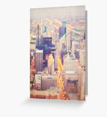 Windy City Lights Greeting Card