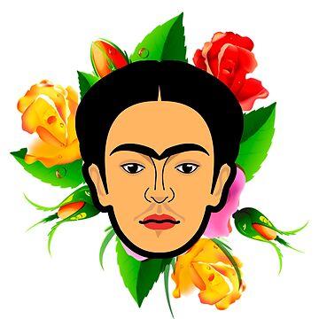 Frida Kahlo minimal by edleon