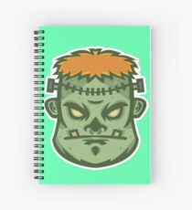 Zombie Frankenstein Vector Art Spiral Notebook