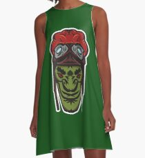 Green Goblin Rider Vector Art A-Line Dress
